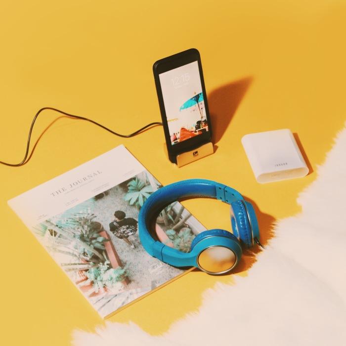 Audley Headphones, Lewis Luxury Charging Dock, Jaguar Monster Power Bank